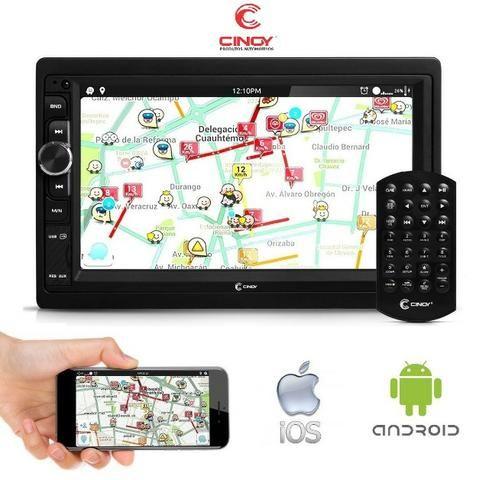 "Central Multimidia Mp5 12x Sem Juros 7"" Radio Bluetooth Espelhamento Ios Android Usb Sd"