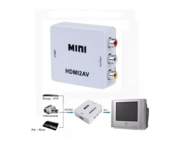 Mini Adaptador Conversor De Hdmi Para Video 3rca Av - Foto 2