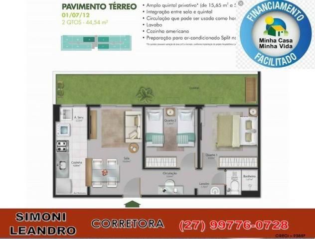 SCL - 34 - Apartamento 2 quartos, quintal, lazer completo, elevador, (entrada facilitada) - Foto 10