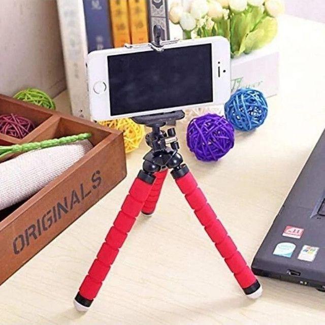 Mini Tripé Flexível  Celulares E Câmeras  Suporte Universal - Foto 3