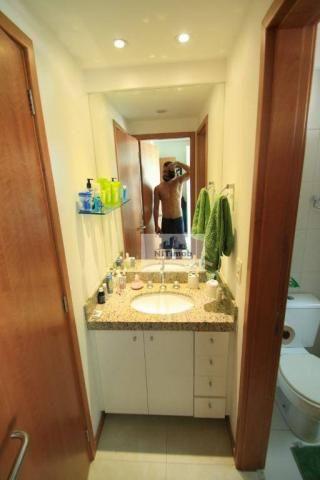 Excelente apartamento 3 quartos, frente, andar alto, parcialmente mobiliado, lazer complet - Foto 18