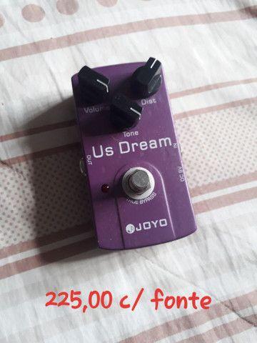 Pedal Distorção JOYO US Dream com fonte