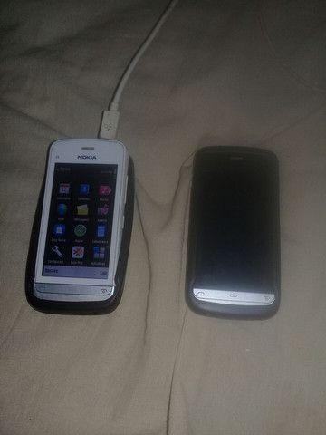 dois celulares Nokia c5 em bom estado