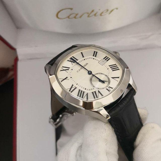 Relógio Cartier de Couro Preto Automático  - Foto 4