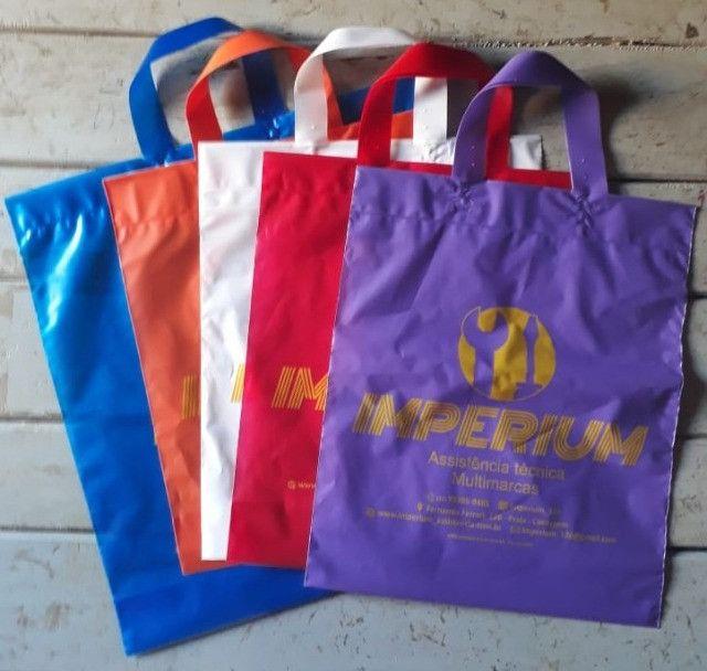 1,00 cada sacola personalizada.. Alça Fita 30x45