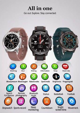 Smartwatch DT78 - Película e Pulseira Extra de Brinde - Novo - Foto 4