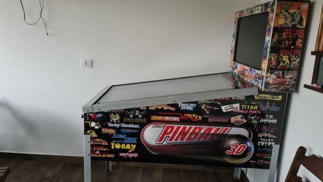 Fliperama Pinball Arcade - 240 jogos - Excelente estado  - Foto 2
