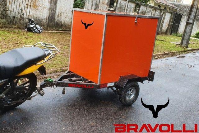 Carretinha 1 eixo fazendinha BRAVOLLI  - Foto 4