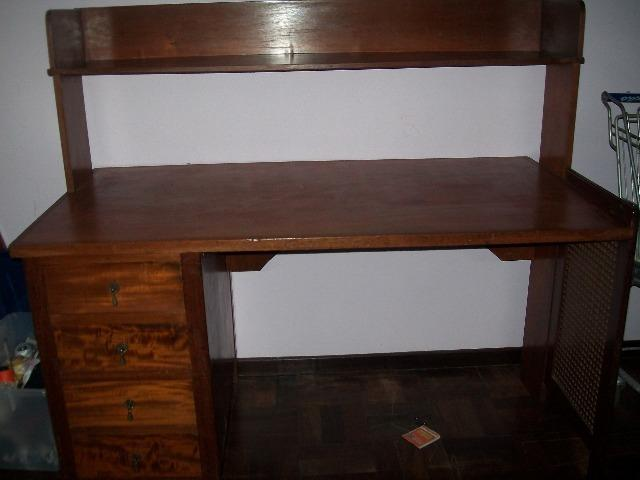 Escrivania estante madeira nobre