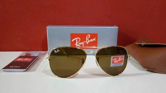 9badfa149 Óculos de sol Ray Ban Aviador Unissex Novo Frete grátis ...