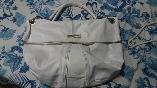 914489b31 Linda bolsa de couro branca - Bolsas, malas e mochilas - Pc Seca ...