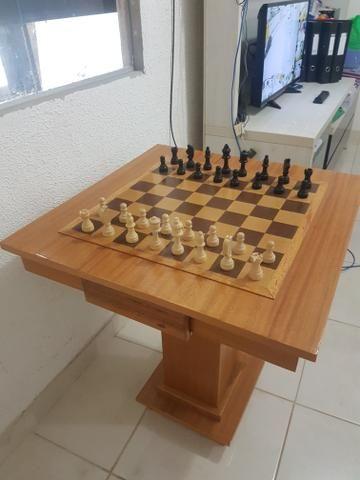 Mesa de xadrez de otima qualidade - Foto 2