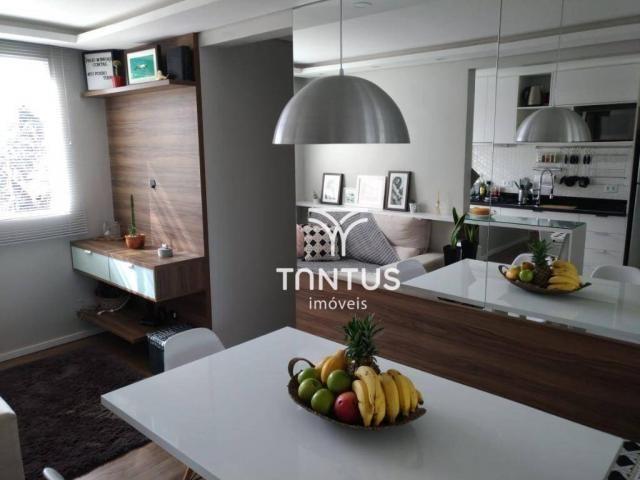 Apartamento com 2 dormitórios à venda, 50 m² por r$ 240.000 - pinheirinho - curitiba/pr - Foto 4