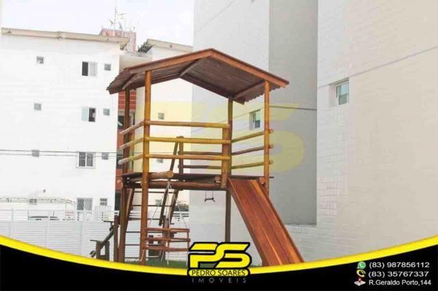 Apartamento novo, 02 quartos, piscina, churrasqueira, espaço gourmet, playground, 45,80m²  - Foto 12