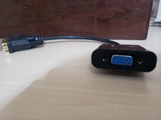 Conversor e Adaptador de Vídeo DVI para VGA - Foto 2