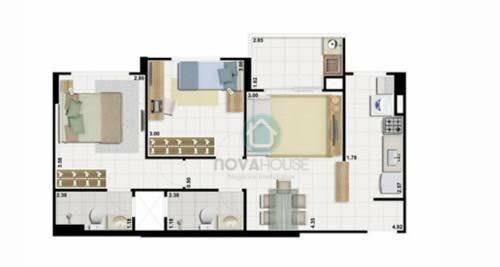 Apartamento com 2 dormitórios e churrasqueira na sacada - YES - Foto 3