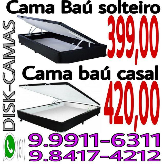 DISK-CAMAS- colchões- cama baú __ cama box baú e acessórios