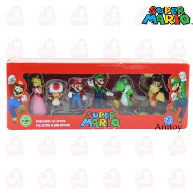 Kit Mário PVC/Plástico miniaturas com 6 personagens - Foto 2