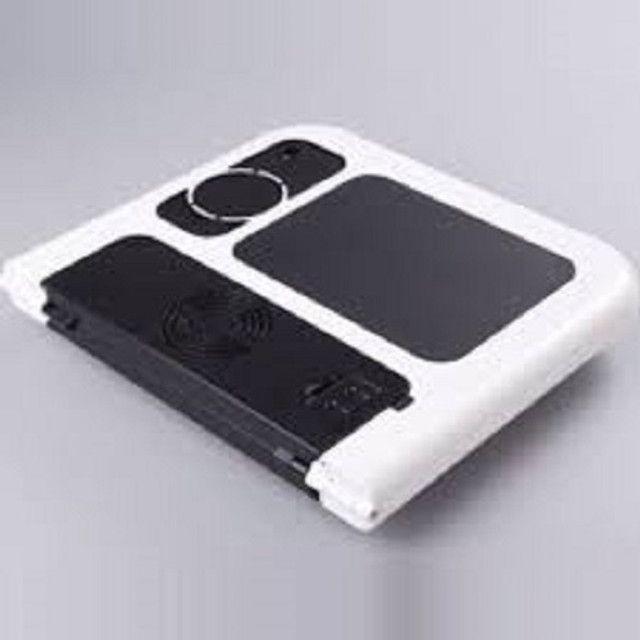 Mesa Para Notebook Dobrável Portátil Articulada Com Cooler - Foto 3