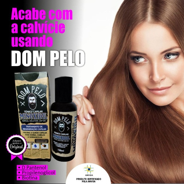 Tônico Capilar Dom Pelo Cresce Barba 120ml Capilar Forte - Foto 2