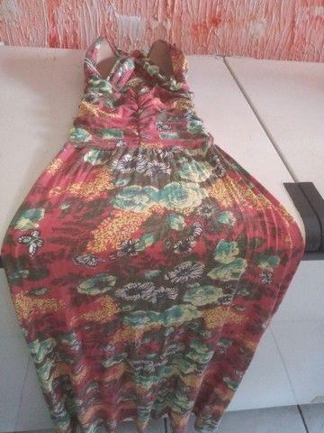 Vendo vestido longo de malha fria, novo 90 reais. Cristiane 83. 98719_8584 - Foto 4