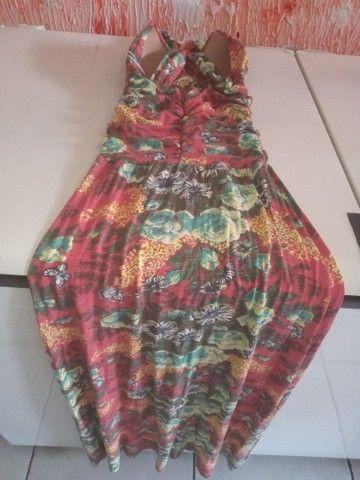 Vendo vestido longo de malha fria, novo 90 reais. Cristiane 83. 98719_8584 - Foto 5