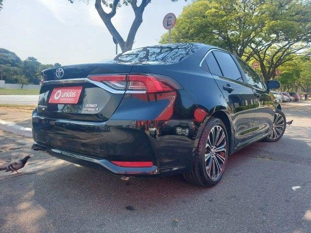 469. Corolla Altis Premium 1.8 Hybrid 2021 - 4.000 km - Blindado com Teto Solar - Foto 6