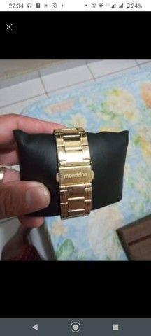 Relógio dourado - Foto 2