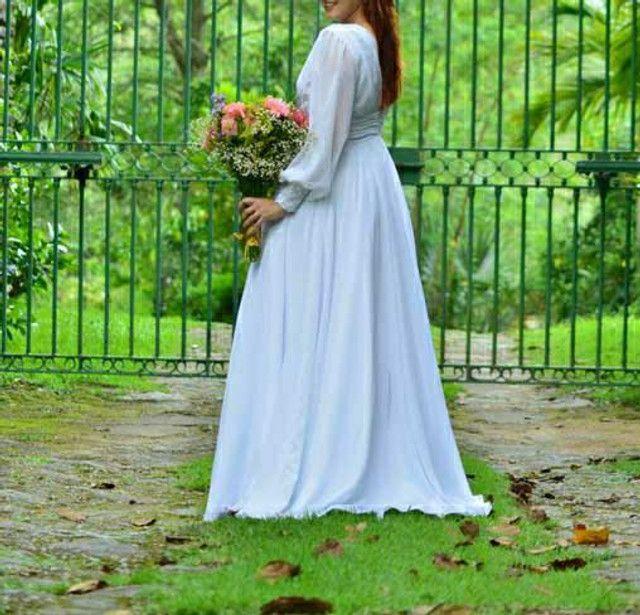 Vestido de noiva estilo romântico - Foto 2