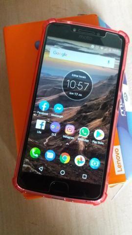 Moto E4 Plus tela de 5.5 leitor biométrico