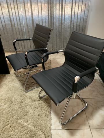 Jogo de 3 cadeiras para escritório - Foto 3