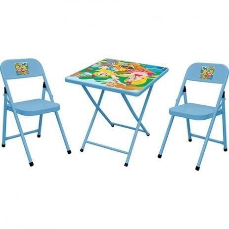 Mesa infantil dobrável com 2 cadeiras *nova na caixa