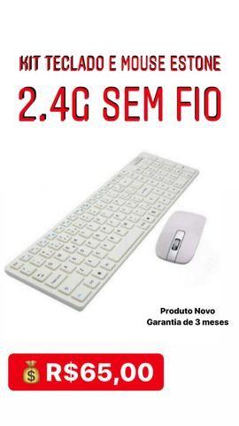 Kit teclado e mouse Estone 2.4 G Sem fio