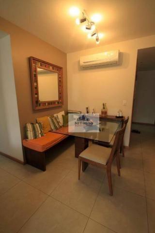 Excelente apartamento 3 quartos, frente, andar alto, parcialmente mobiliado, lazer complet - Foto 4