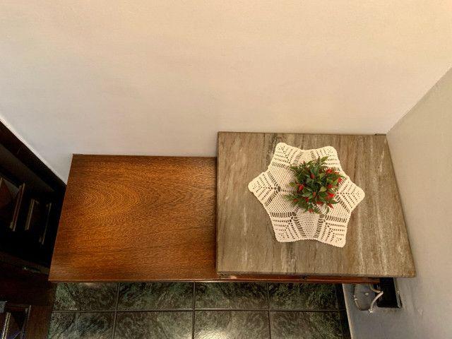 Mesa de telefone com assento e tampo de mármore  - Foto 3