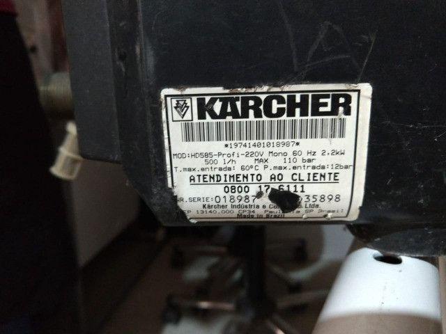 Lavadora De Alta Pressão - Karcher Hd 585 220v Profissional - Leia com atenção - Foto 4
