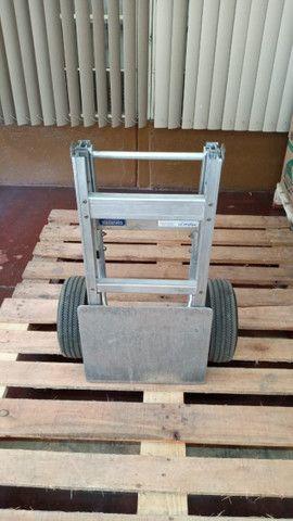 Carrinho carga dobrável em alumínio Drimec Semi-novo - Foto 3