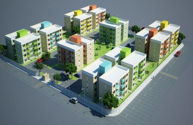 Apartamento 2Qts com varanda em Mesquita, aceito financiamento caixa - Foto 2