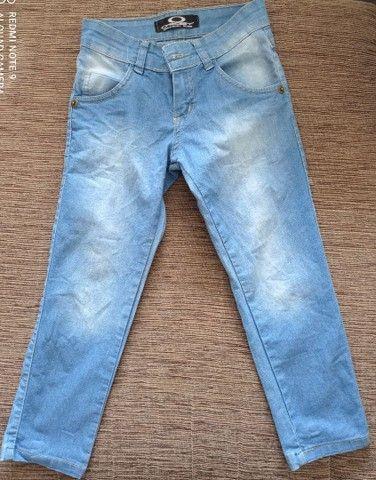 Calça jeans infantil tamanho 8