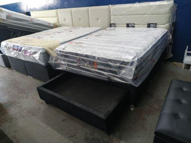 DISK-CAMAS- colchões- cama baú __ cama box baú e acessórios - Foto 4