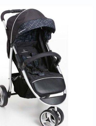 Carrinho Galzerano unisex preto+ bebê conforto Burigotto