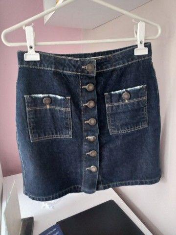 Saia Jeans com botões - Foto 2