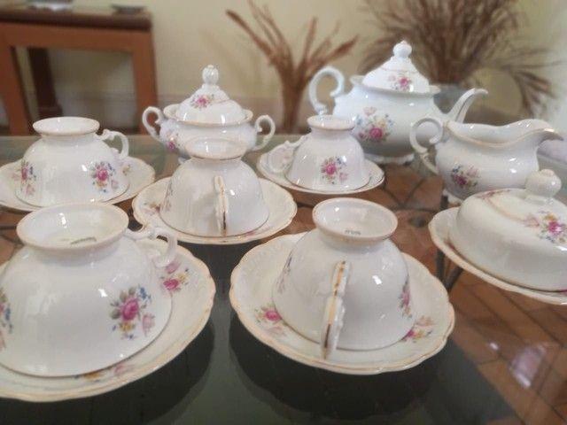 Conjunto de Chá Porcelana Schmidt pintado à mão - Foto 2