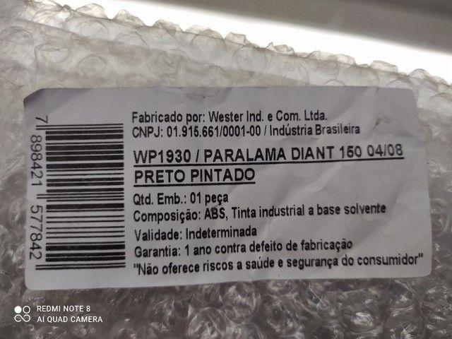 ParaLama Dianteiro Titan 150 (04/08) Preto Pintado - Foto 6
