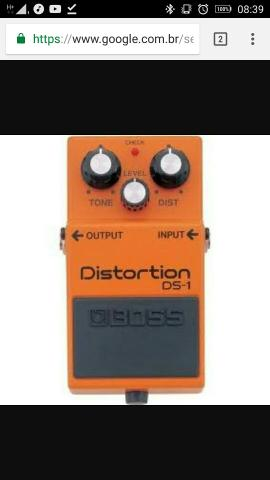 Vendo pedal Boss DS1 R$ 200,00