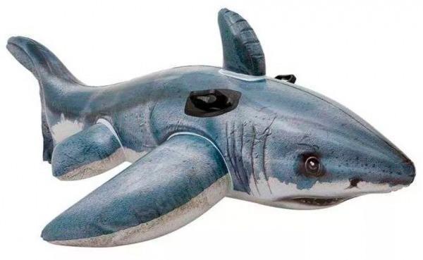 Bote Inflável Tubarão Branco Gigante. Formato E Desenho Real