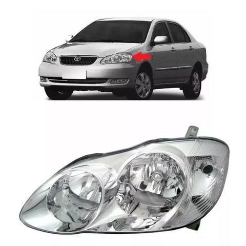 Farol Cromado Toyota Corolla 2003 2004 06 2007 2008 Esquerdo