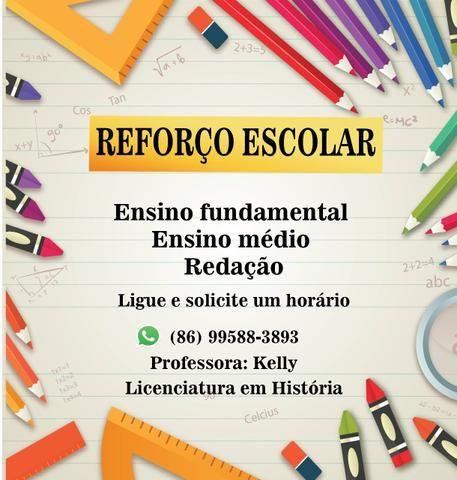 Reforço Escolar: Fundamental, médio e Redação