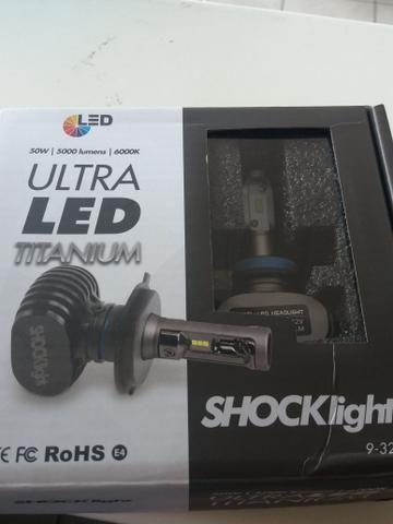 Led ultra led h11 shocklight nova na caixa garantia instalado - Foto 3