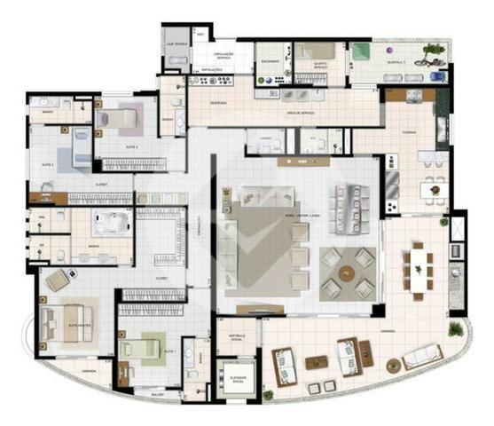 Apartamento 4 quartos, 4 suítes no Jardim Goiás - REF: oeste71